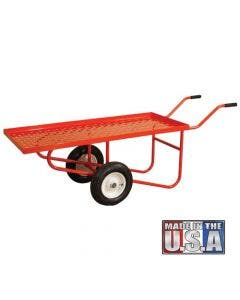 A.M 900 Pound Capacity Leonard 4-Wheel Flatbed Nursery Cart with Pull Handle 2 x 4 Feet